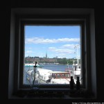 Stockholm Archipelago seen through a window by Paul Philip Abrig